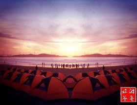 【温柔六鳌海】 六鳌翡翠湾露营、围桌晚餐、篝火晚会、皇家赵家堡两日游[每周六发团]